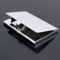 Wholesale Fashion Gift Stainless Steel Aluminium Business ID Name Credit Card Holder Case