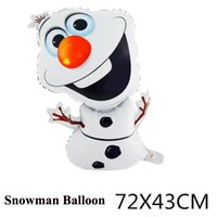 Wholesale Frozen Olaf Balloon the Snowman Balloon Children Birthday Party Decoration cm D4D4