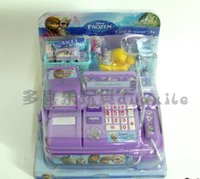 Wholesale hot sale retail NEW Voice glowing Hot Selling frozen Multi function cash register Play educational toys