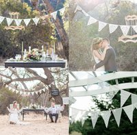 backdrop wedding reception - Hot Sale Vintage Wedding Banner Bunting Burlap Photo Prop Venue Decoration Reception