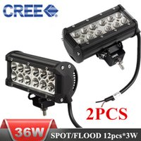 Wholesale 7 inch W CREE LED light bars Spot Flood Combo Light Car LED Working Light for Offroad Truck SUV Tractor WD Boat