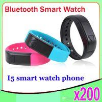 Cheap I5 Bluetooth Watch Bracelet Sport Smart watch WristWatch Hand Ring Tracking Sleep 200 pcs ZY-SB-05