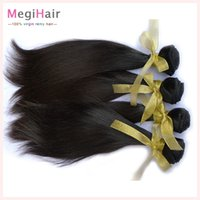 Wholesale 6A Top Selling Straight Brazilian Hair Bundles Unprocessed Remy Human Hair Extensions Virgin Hair Weave Hair Weft With free DHL