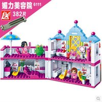 beauty salon toys - Banbao Beauty Salon Blocks Toys for Girls Plastic Building Block Sets Educational DIY Bricks Toys