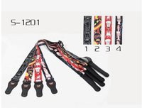 best nylon guitar - Best selling Adjustable Acoustic Electric Guitar Strap Ukulele Belt Nylon there colors Leather Ends For Guitars