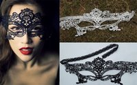 Wholesale Sexy Halloween Masquerade Lady Exquisite Lace Half Face Mask New Arrival Wedding Party Masks White Black