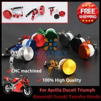 Wholesale Motorcycle Bike Front Brake Clutch Tank Cylinder Motorbike Fluid Oil Reservoir CNC Aluminum Plastic Universal order lt no tr