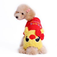 baby dog halloween costume - quot Dog baby quot cute pet warm clothing Pets fleece clothes dog cloth Four footed beast dog clothes