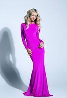 Cheap Model Pictures prom dresses Best Trumpet/Mermaid Jewel prom dresses Long sleeve