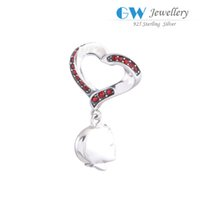 bead people - People floating charms crystal clear dangles beads S925 sterling silver DIY charms fits bracelet and necklace hot sale S065I6