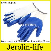 Wholesale 2015 Film Gloves Slip resistant Cut resistant Wear resistant Glue Gloves Protective Gloves Gardening Supplies