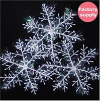 Wholesale 900pcs White Plastic Christmas Snowflake Sheet Ornament Merry Xmas Tree House Decoration With Shining cm factory supplies
