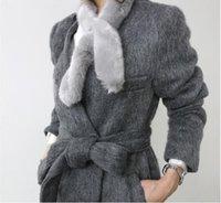 knitting fur scarf - New Womens Winter Rabbit Hair Scarf Shawls And Scarves Knitting Fur Scarf Soft Warm Woman Muffler