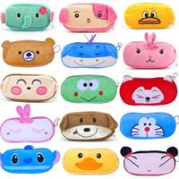 fabric for kids - 2015 New Cute Cartoon Kawaii Pencil Case Plush Large Pencil Bag for Kids School Supplies Material Korean Stationery