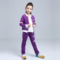 Wholesale Brand new Kids Clothing set Children outerwear sport suit girls jacket Pants fashion jogging sweatshirt tracksuit clothes