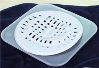 Wholesale 2 X SILICONE FLOOR DRAIN FILTER STRAINER CATCHER HAIR CLOG DEODORANT COVER FOR KITCHEN BASIN BATHROOM SEWER SINK WITH SUCTION CUPS SUCKER
