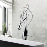 bathroom lavatory sinks - All copper Fashion Art LED Bird s Nest Lavatory Faucet Kitchen Basin Taps Bathroom Sink Faucet Cool Design Basin Tap H16182