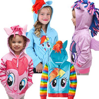baby girl hoody - 2015 Brand New Fashion Children outerwear My little pony Sweater hoodies sportswear boys girls Cartoon Hooded coat clothes baby hoody jacket