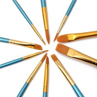 Wholesale 10pcs Paint Brush Nylon Hair Different Shape Art Set Watercolor Oil Brushes for Kids Gift Artist Supplies