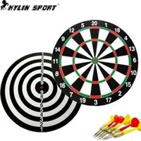 Wholesale new indoor inch sport double target dart magnetic flocking dartboard board double thickening for and freeshipping