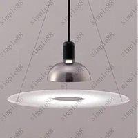 aluminium kitchen designs - Flos frisbi pendant lamp Modern Acrylic Aluminium suspension lighting chandelier designed by Achille Castiglioni Dia cm H73cm