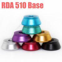 Revisiones Tanque de mutación-Clearomizer base de la exhibición del soporte del atomizador RDA Titular de aluminio 510 para la base de 510 Clearomizers hilo aerotank Mega mutación tanque RDA RBA