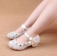 Wholesale 2015 Spring Summer Girls Princess Shoes Pearls Beaded Shining Round Toe Kids Casual Shoe Colorful Cheap Fast shipping Children Shoes