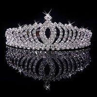 big hair ball - 2016 Big diamond crown necklaces earrings suit combs inserted comb flower princess bride wedding go head ornaments