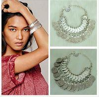 handmade costume jewelry - Turkish jewelry Fashion Vintage Style Handmade Boho Coin Bracelets Metal Loop Plates Festival Costume beach tribal indian jewelry for women