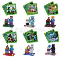 toys - 2015 Minecraft Steve Zombie Skeleton Enderman Building Block Toys Assembly Minecraft creeper style