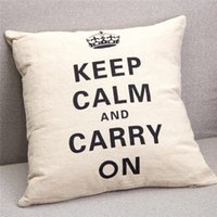 Wholesale Hot Pesonalized Linen Crown Pillow Case Square Throw Pillowcase Sofa Cushion Cover Home Room Decor