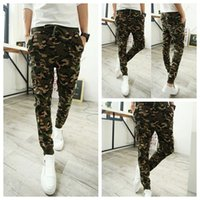 cargo pants for men - Camo Joggers New Arrival Fashion Slim Fit Camouflage Jogging Pants Men Harem Sweatpants Cargo Pants for Track Training