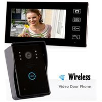 Wholesale 7 quot TFT GHz Wireless Video Door Phone Vidoe Intercom Doorbell Home Security IR Camera Monitor Night Vision Unlock Door Bell order lt no tr