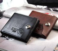 Wholesale New casual Mens Leather Coin Slim Bifold Credit Card Clutch Holder Wallets Purse