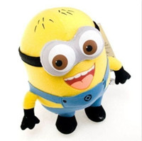 Wholesale 18cm minion toys Creative Minions D eyes yellow doll soybeans doll plush toys