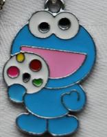 Wholesale Sesame Street Jewelry - New 50 pcs Blue Cartoon Sesame street Metal Charms Jewelry Making pendants Party gifts