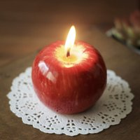 apple candle holders - Apple candle wedding Creative romantic Valentine s Day gift candle holder apple shape craft candle girlfriend birthday gift