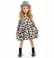 girls boutique clothes - European girls bottoming dresses new baby cotton stretch black cat pattern dress christmas children boutique clothing HX