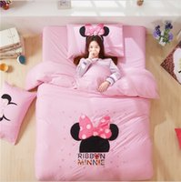 applique embroidery machines - 2015 Fashion Cartoon Bedding Sets Flocking Embroidery Bedding Suite Cotton Applique Children Beddings Home Collection