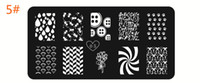 Wholesale Good quality Stainless Steel Nail Art stamp Stamping Metal Plate Printing Image Plate Design Template Designs