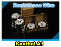 Wholesale A1 Resistance Wire Feet Spool awg Gauge Heating pre coil Wire DIY vape mod RDA e cigarette cig mod atomizer RBA