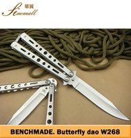 camping gear - 8PCS Benchmade S baliosng steel Plain EDC Folding blade tactical knife camping gear knife knives with retail box