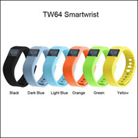 TW64 Bracelet FITBIT Smart Band Fitness Activity Tracker Bluetooth 4.0 Bracelet Sport Smartband 5 couleurs pour android ios