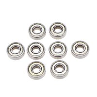 Wholesale Silver mm ZZ ABEC Deep Groove Ball Bearing Dustproof Skateboard Bearings Carbon Steel Skating Bearing