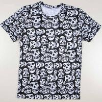 ac dc clothing - Individuality Hip Hop T shirt for Misfits Skull men d t shirt print Gentleman AC DC t shirt clothes anaheim ducks Round neck