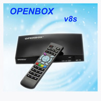 Wholesale Original Openbox V8S satellite receiver V8 support xUSB USB Wifi WEB TV Cccamd Newcamd YouTube Weather Forecast Biss Key For