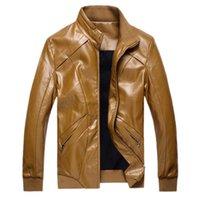 add outerwear - Fall Cotton Padded Men Fashion Leather Jackets Plus Size M XL ADD Fleece Man Warm Winter Outerwear