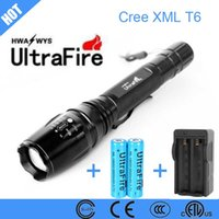 battary charger - CREE XM L T6 Modes Zoomable LED Flashlight lumens torch for camp outdoor climbing Adventures battary and charger