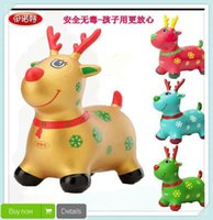inflatable horse - New Outdoor Toy Inflatable Toys Jumping Horse Jumping Deer Baby Thickening Music Small Deer Kids Toys