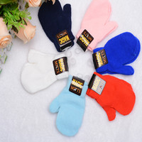 Wholesale Cute Baby Cotton Mittens Kids Knitted Winter Gloves For Children Boy Girls Years Good Quality Gants Luvas